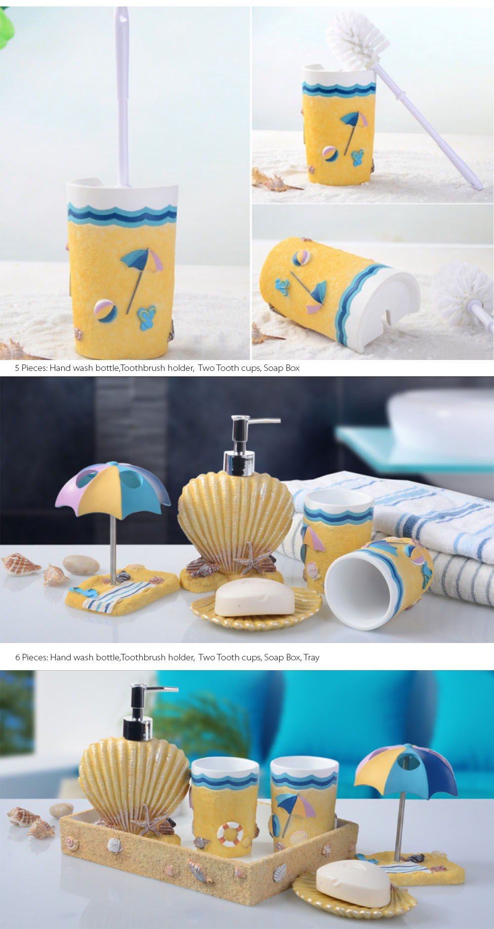 Nautical Style Wash Set Decoration For Your Bathroom