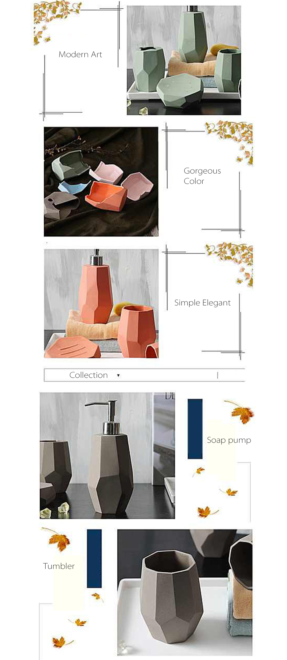 Ceramic Bath Accessories Simple And Modern